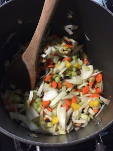 If only you could smell this picture...! I used rainbow carrots to give the soup even more color.