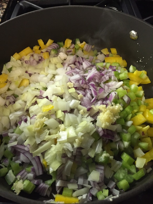 Eating across the rainbow! I used white and red onion in this recipe.