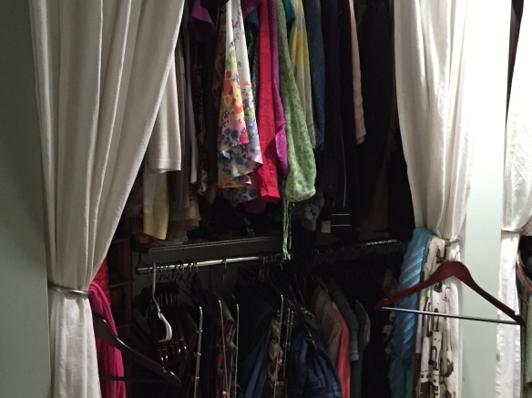 It's tempting to say I need a bigger closet, but I really just need less stuff