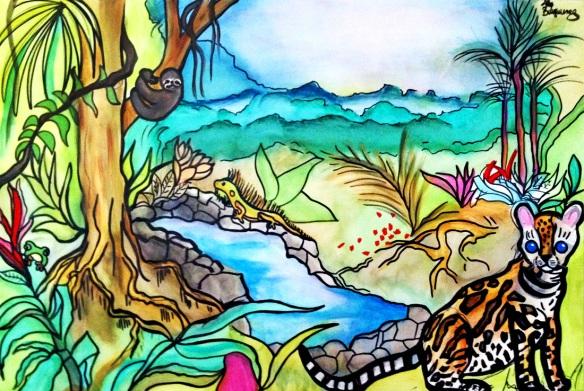 Cocoally CR watercolor