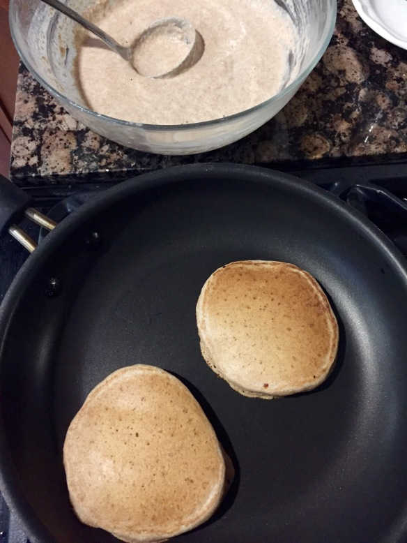 pancakes in progress